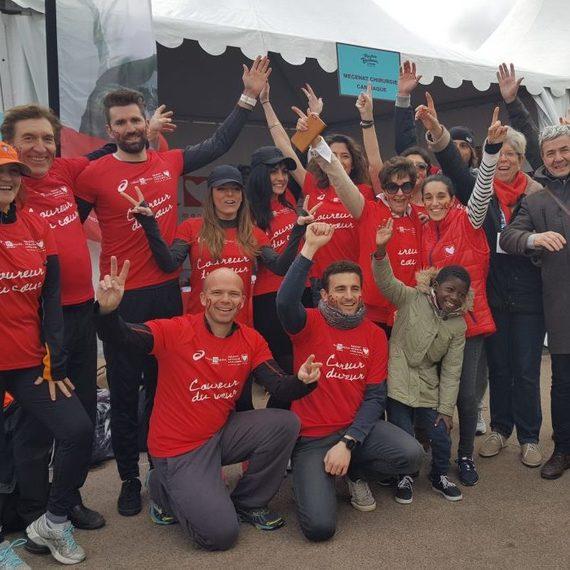 Les coureurs du cœur du Cabinet Bedin Immobilier se mobilisent pour Mécenat Chirurgie Cardiaque pendant le Marathon de Bordeaux