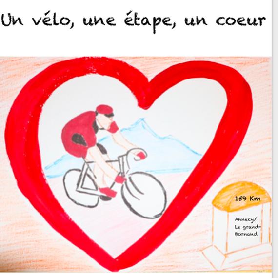 Un vélo, une étape, un coeur