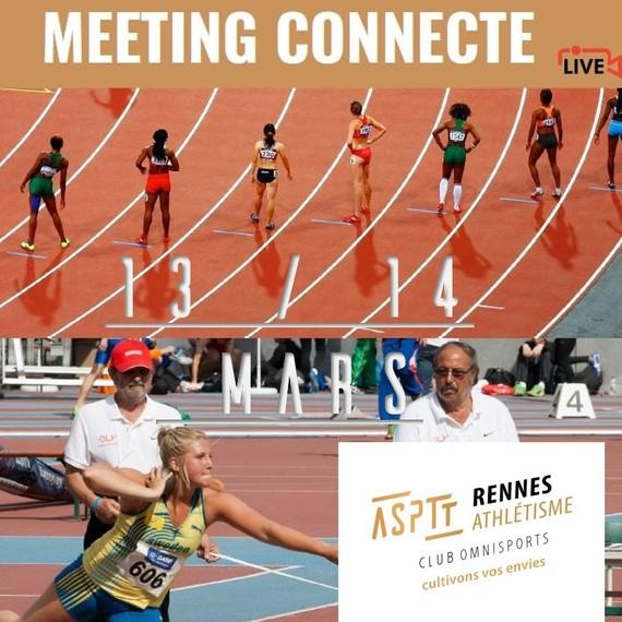 meeting athlétisme à distance connecté en live streaming les 13 et 14 mars