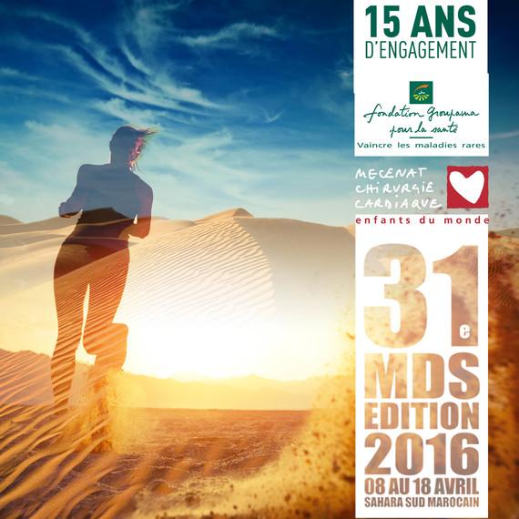 Groupama- Rois de Coeur s'engagent sur le marathon des sables 2016
